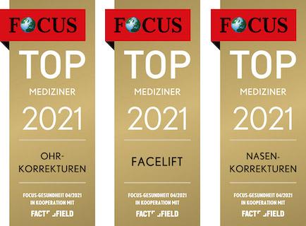 Focus-Siegel für Top-Mediziner 2021
